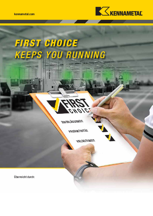 Kennametal First Choice Keeps You Running